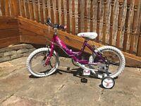 Girls Stars Raleigh Bike