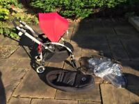 Bugaboo Bee3 - second hand pram with cocoon