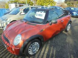 MINI ONE 1598cc CONVERTIBLE 2005-54, METALIC ORANGE, 2 FORMER KEEPERS,