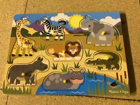 Melidssa & Doug wooden safari animal peg puzzle