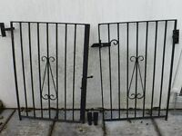 Heavy Wrought Iron Gates, excellent condition, no work needed.