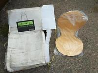 4 Maple veneer kitchen chairs; Marks & Spencer never used still boxed.