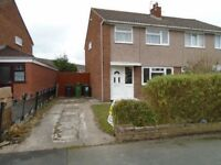 3 Bed Semi in Great Sutton with driveway and gardens