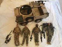 H M Forces army figures and vehicle