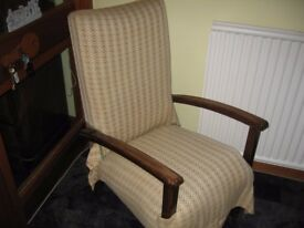 Very solid old chair in good condition. Collection only please. Open to offers.