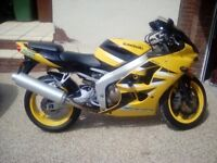Kawasaki zx6r j2 On a 02 plate and only 18900 miles