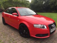 2007 Audi A4 2.0 TDI S Line special edition 170 Bhp 2 Tone leather seats/steering RS4 Alloy wheels