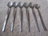 Long Sundae Dessert Spoons x 6 Stainless Steel