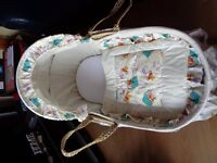 WINNIE THE POOH MOSES BASKET AND ROCKING STAND.....