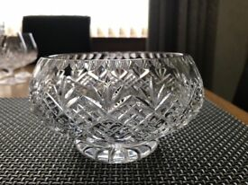 "Small crystal dish , approx 5"" diameter"