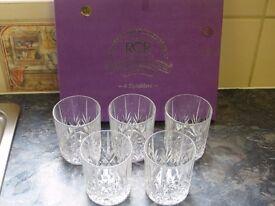 Italian Royal Crystal Glass Tumblers