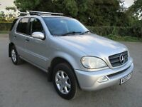 2002 MERCEDES ML270 2.7 CDi AUTO 7 SEATER STUNNER LEATHER CROSS BARS AMG SPARE WHEEL COVER PX SWAPS