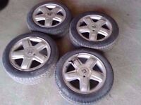 "RENAULT CLIO 15"" ALLOY WHEELS WITH TYRES"