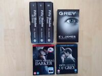Fifty shades book and dvd bundle