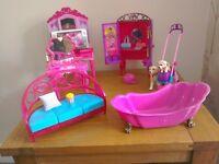 Barbie furniture and accessories