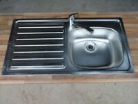 Ex new build home Carron stainless steel kitchen sink and tap