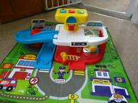 Toy car park and mat