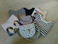 4 Zara, 1Jigsaw long sleeves top, Cath Kids shoulder bag as new/ Size8