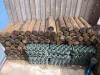Individual Garden Edging Round Logs
