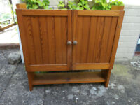 Pine bathroom cabinet, professionally made.