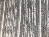 Wool and Artsilk Rug Mocha stripes 180x150 cm