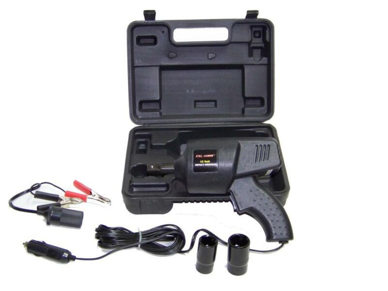 Portable 12 volt power Impact Wrench Roadside Emergency auto lug nut remover set