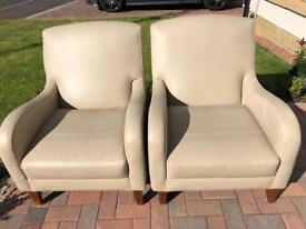 Leather Armchairs x 2, Marks & Spencer's Maiko