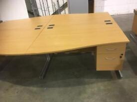 Office desk with pedestal