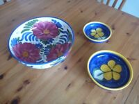 Fruit Bowl and smaller nest bowls.
