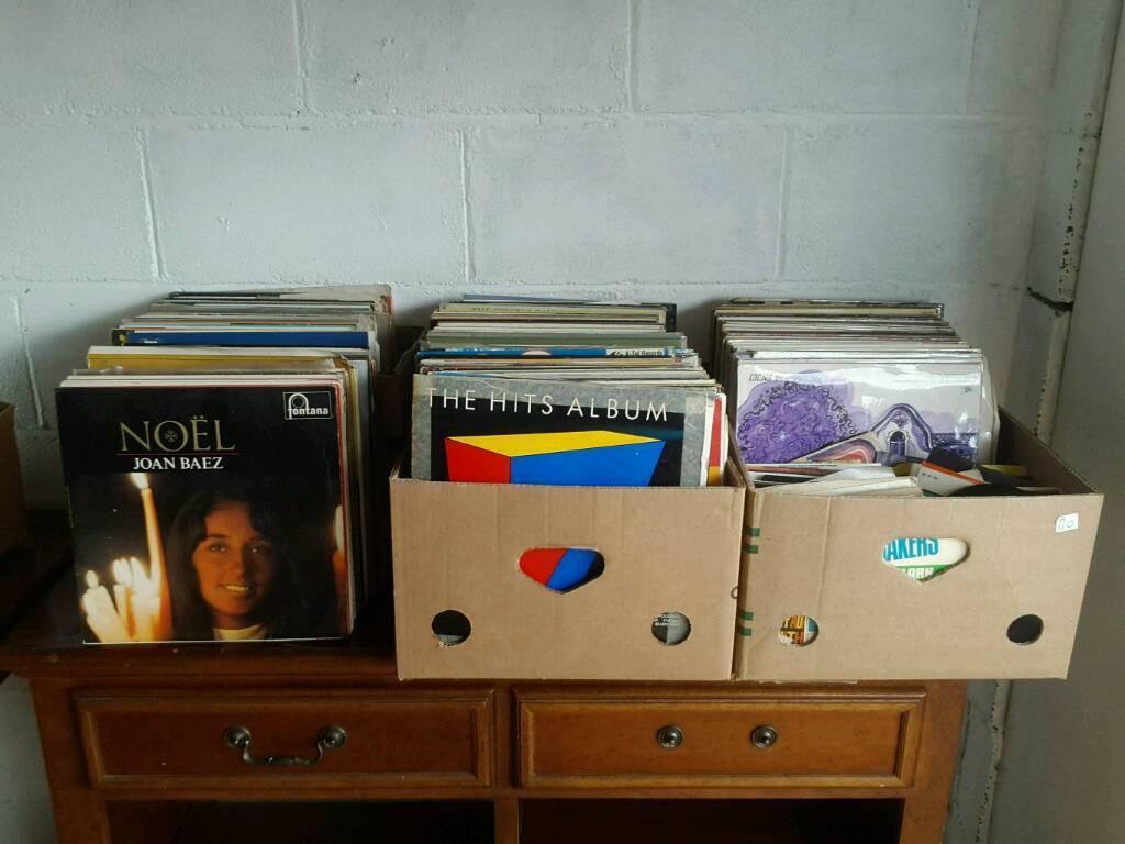 Vinyl LPs, singles and 78s