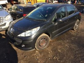 Peugeot 207 1.4 VTi S 5dr (a/c) black (07 - 10) breaking for parts