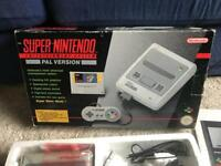 Snes Super Nintendo boxed original console