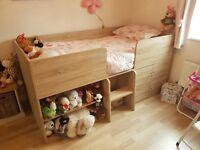 Next Oak Effect Cabin Bed