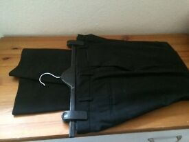 Men's smart suit trousers black for sale