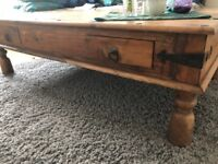 SOLID ROSEWOOD COFFEE TABLE WITH TWO Drawers due to Moving