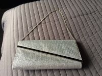 Jane Norman silver clutch bag