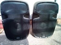 "prosound 12"" 300w speakers both non working"