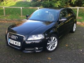 2012 Audi a3 1,6TDI S -Line specs half leather 106000 miles