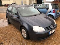 2005 VW VOLKSWAGEN GOLF 1.6 FSI S BLUE HATCHBACK SIX SPEED