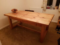VINTAGE 8 PERSON DINING TABLE MADE WITH RECYCLED PTCH PINE
