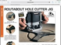 Trend Routabout hole cutting jig
