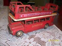 TIN DOUBLE DECKER LONDON BUS