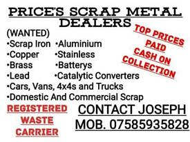 Wanted scrap iron cars vans and 4x4s we wont be beaten on prices