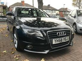 2008 (58 reg) Audi A4 2.0 TDI S Line 4dr 6 SPEED DIESEL FULL LEATHER FSH CAMBELT DONE WARRANTY !