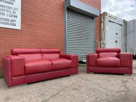 Leather sofa set delivery 🚚 sofa suite couch furniture