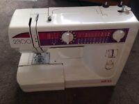 Elna 2300 sewing machine- hardly used