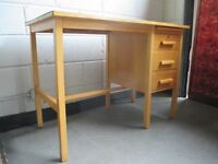 VINTAGE THREE DRAWER DESK WITH KEY FREE DELIVERY