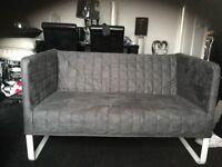 Grey ikea sofa knopparp