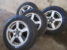transit connect 5 x 108 alloys wheels with 195 65 15 tyres