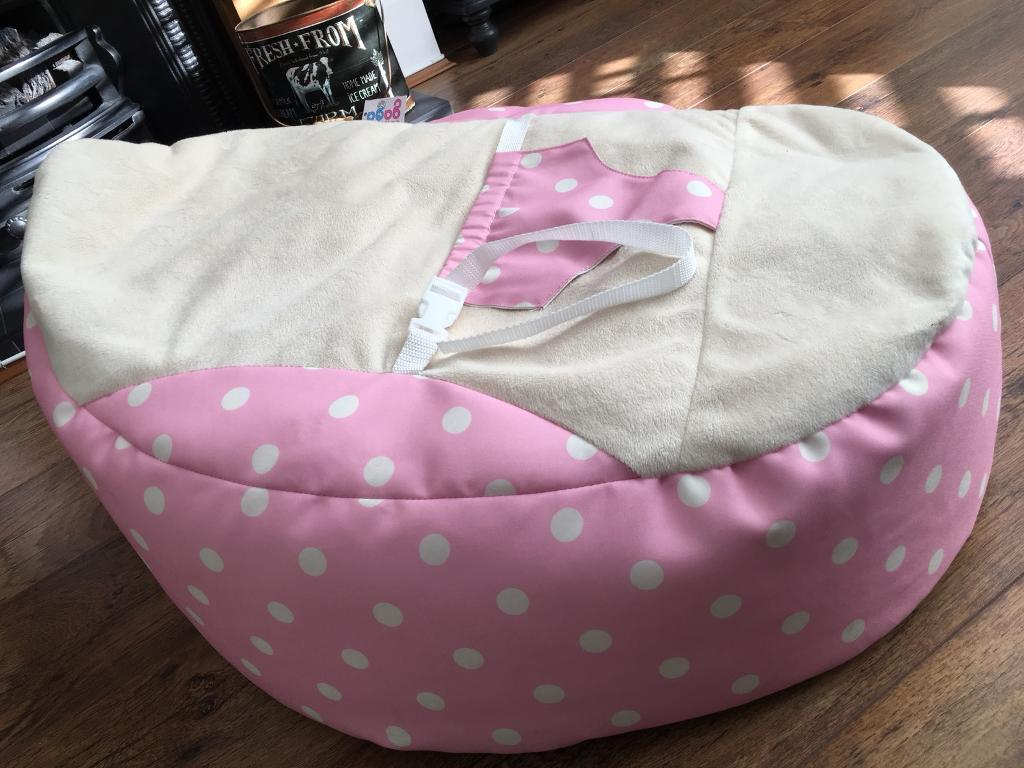 Pleasing Rucomfy Gaga Baby Beanbag Seat Chair Pink With White Polka Dots In Liverpool Merseyside Gumtree Pabps2019 Chair Design Images Pabps2019Com